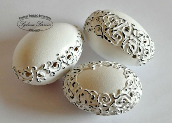 Egg shell art, Easter shabby chic - step by step - fancy-deco.com