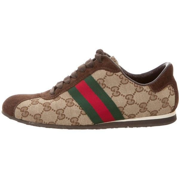 Pre-owned Gucci GG Web Sneakers ($285