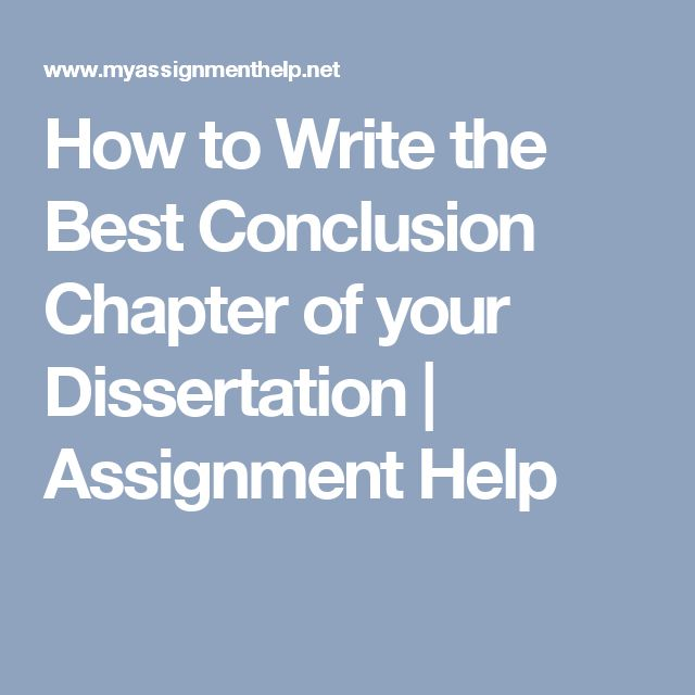 How to write chapter 5 of a dissertation