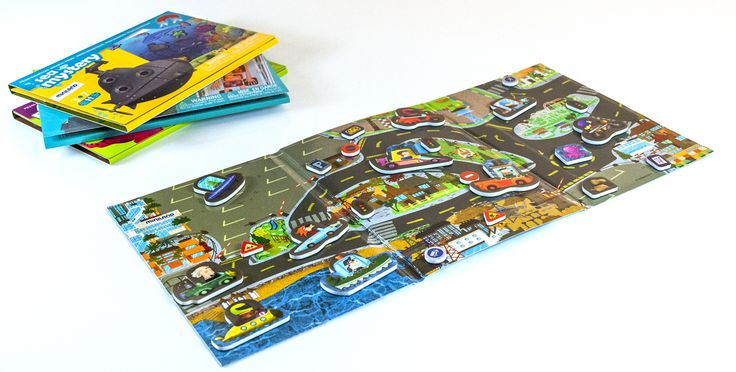 Miniland On the Go Crazy City Magnets. Take out all the pieces and mix them on the inner board. Look at the characters on the outer board. Use your memory to combine the pieces on the city streets, and then check that the models are the same as those on the outer board. The game is developed to encourage spatial awareness, creativity and hand-eye co-ordination. This game's format and design make them ideal for portable play. 3 Years +