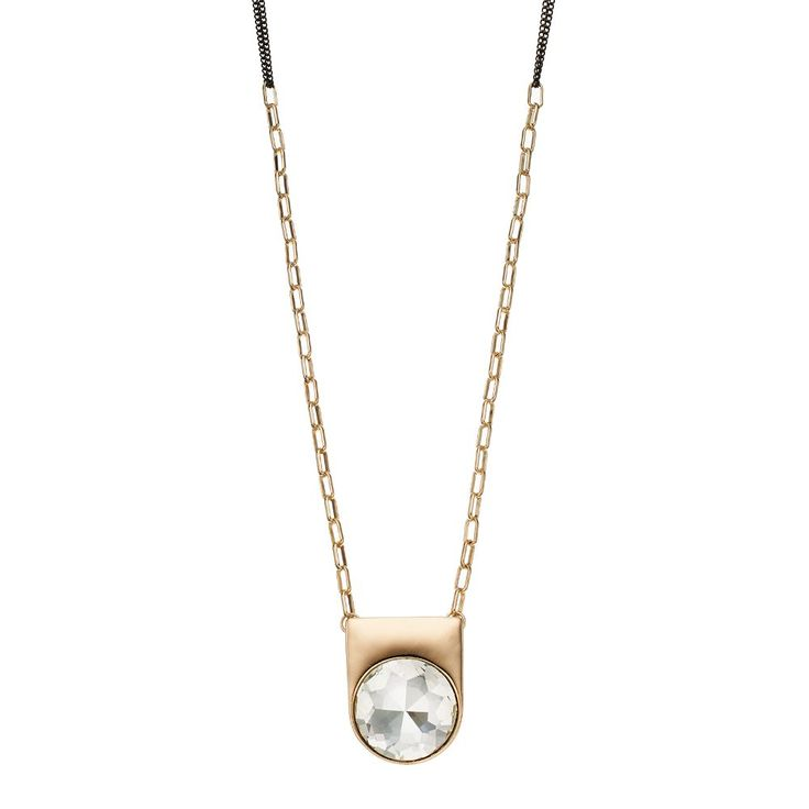 """GS by gemma simone Jazz Age Glam Collection Parker Long Necklace, Women's, Size: 30"""", White"""