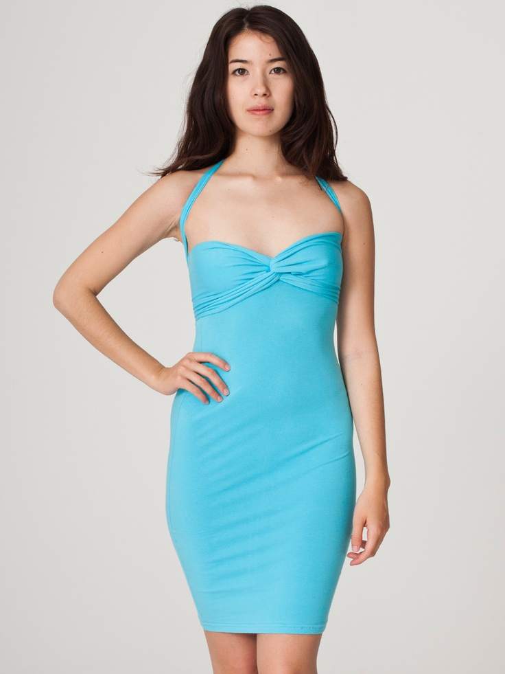 American Apparel - Cotton Spandex Jersey Bandeau Pencil Dress
