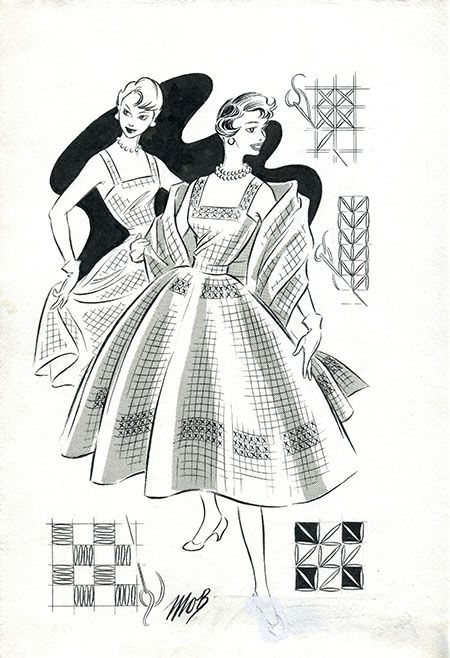Margaret Oliver Brown fashion illustrations (archive reference: DC/51/2/15).