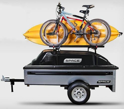 """Touted to combine the """"versatility of a utility trailer"""" with attributes found in a haul-behind unit made for gear, SPACE Trailers are hitch-ready equipment haulers that come in three primary styles and can tote copious amounts of gear for camping and outdoors use."""