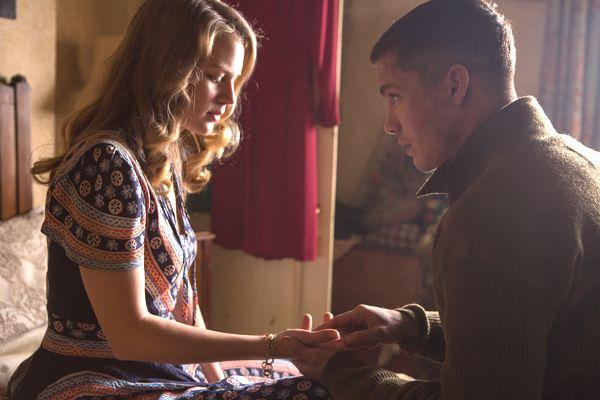 fury movie alicia von rittberg | Emma (Alicia Von Rittberg) and Norman (Logan Lerman) take a time out ...