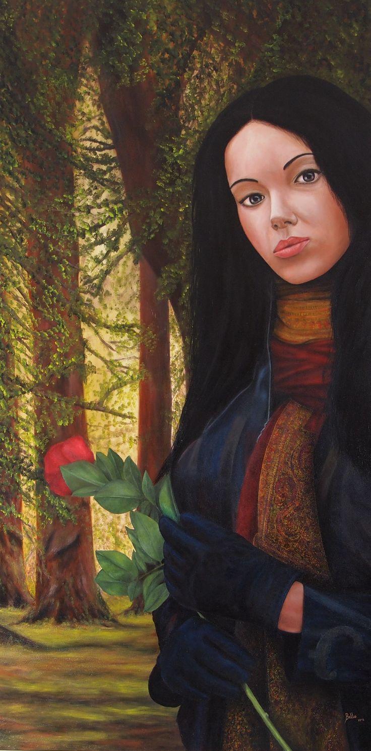 La donna con una sciarpa