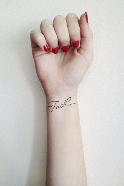 Two Temporary Faith tattoos van Tattoorary op Etsy, $6.00