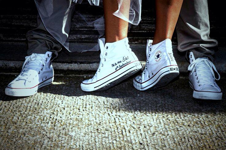 Converse DIY wedding shoes