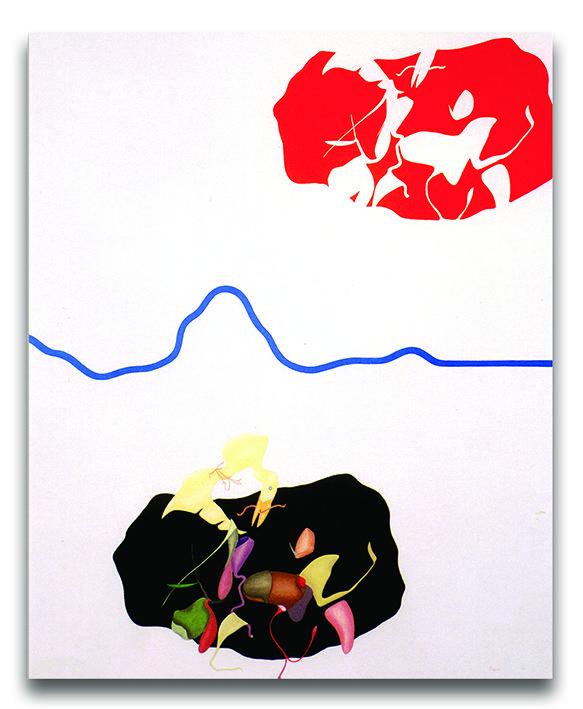Eclissi, acrilici su tela, cm 110x90, 1988