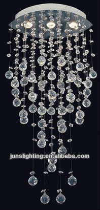 Source crystal chandeliers with hanging crystal ball on m.alibaba.com