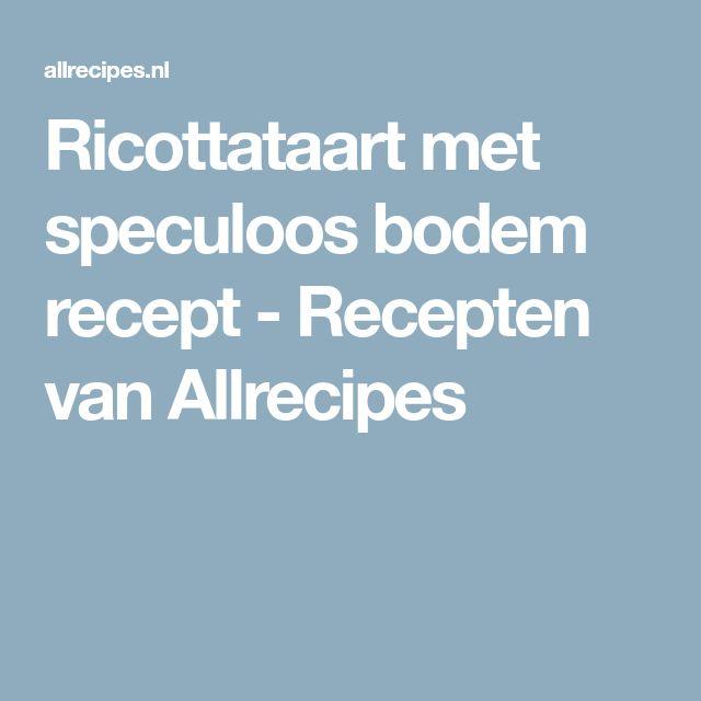 Ricottataart met speculoos bodem recept - Recepten van Allrecipes