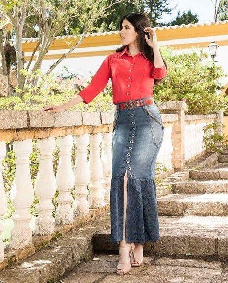 59ed520f6c0 Saia Longa Jeans - Raje Jeans