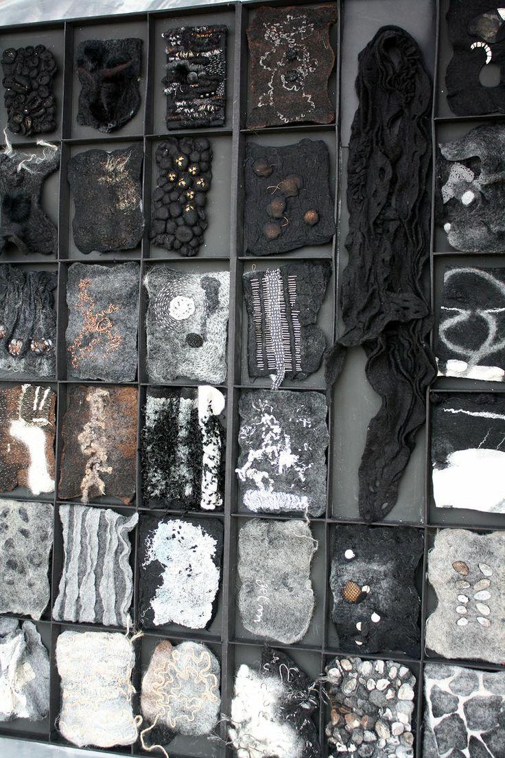 Françoise Christien | Artiste textile feutrière | Petits gris et Gwen ha Du                                                                                                                                                     Plus