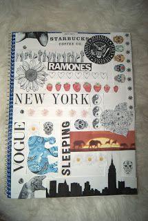 DIY Notebook collage. Authentically Urban