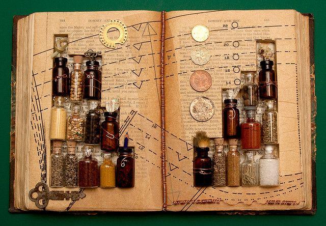 a book as a display box