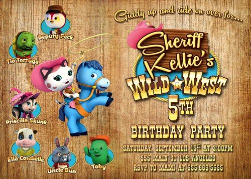 Sheriff Callie Invitation, Sheriff Callie Birthday Party
