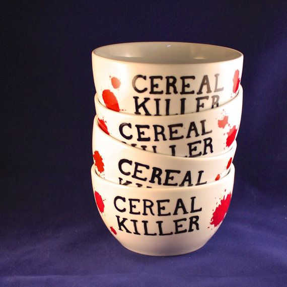 Cereal Killer Cereal Bowls Set.