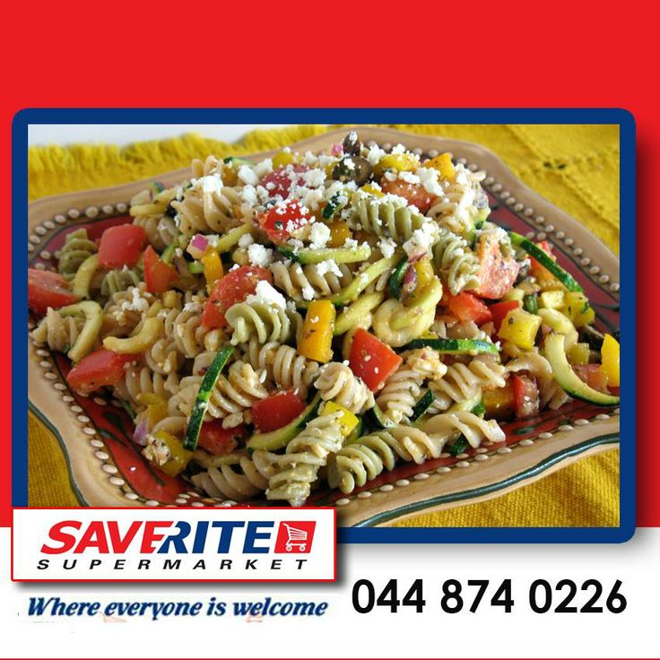 Enjoy your meat free Monday with a delicious pasta salad. This salad has a few simple ingredients which are added to any pasta that your heart desires, olives, feta, cucumber, tomato, peppers and onions. Best served cold. #meatfreemondays #groceries #supermarket