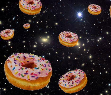 donut galaxy fabric by sewoeno on Spoonflower - custom fabric $17.50/yd