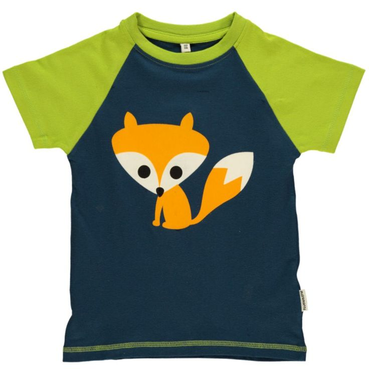 Cute! We love this short sleeved solid fox print child's top from Maxomorroa. Perfect for exploring the outdoors in Spring time.