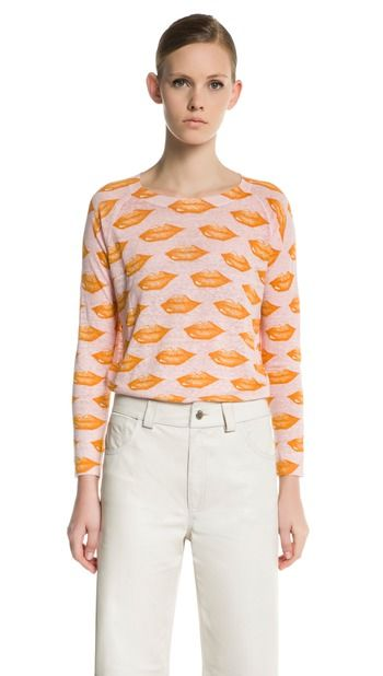 Print pullover