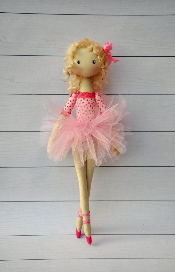 ballerina Doll Textile doll decorative by NilaDolss on Etsy