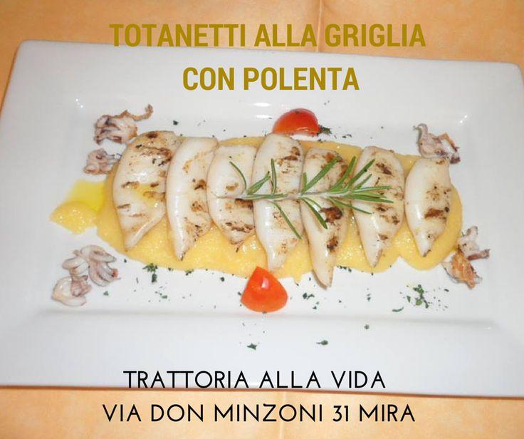 Il consiglio dello chef di oggi: #Totanetti alla griglia con #polenta