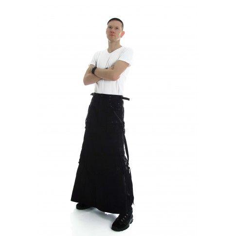 Bondage Herrenrock aus schwarzer Baumwolle