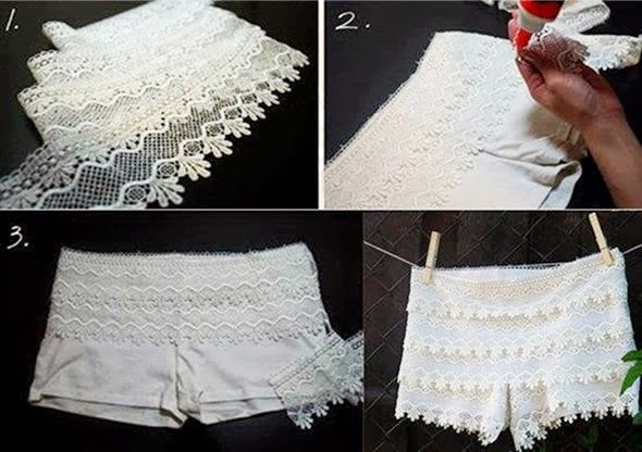 Passo a passo short de renda: Crafts Ideas, Diy Shorts, Gifts Ideas, Diy Clothing, Do You, Shorts De Renda, Yourself, Lace Shorts, Wedding Gifts