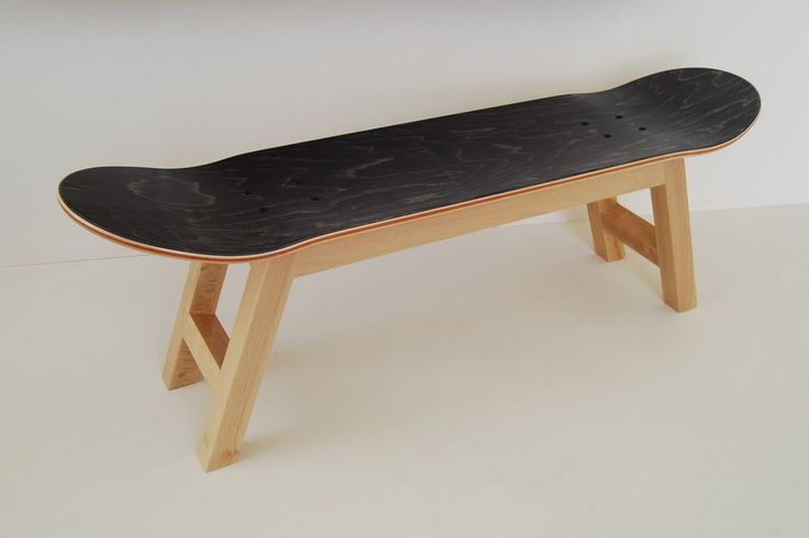 Skateboarding Hocker Geschenkidee Teenager-Zimmer, natürliche schwarze