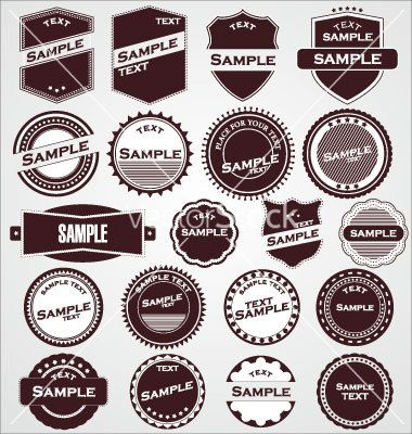 Labels with retro design vector