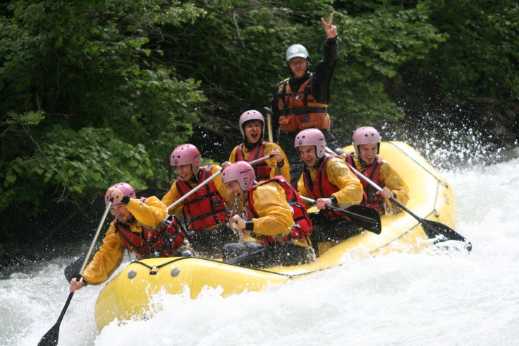 Rafting with ESN Trento!
