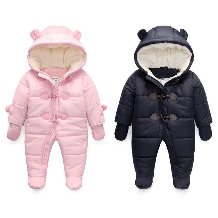 Taobao.nl - Winter kindje overall dikke gewatteerde mannen pasgeboren baby warm katoen Romper klimmen kleren koude uit