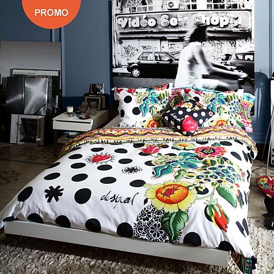 housse de couette camif achat housse de couette percale polka dots desigual prix promo camif. Black Bedroom Furniture Sets. Home Design Ideas