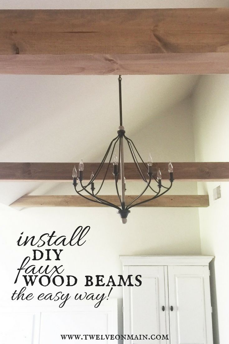 Have yuo wanted wood beams in your home?  Try this easy way to install faux beams and love your home!