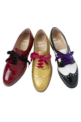 Olivia Morris collaborates with English brogue-makers Grenson (Vogue.co.uk)