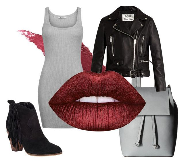 """""""Без названия #10"""" by ladyion on Polyvore featuring мода, Lily Lolo, T By Alexander Wang, French Connection, Acne Studios, Lime Crime и Steve Madden"""
