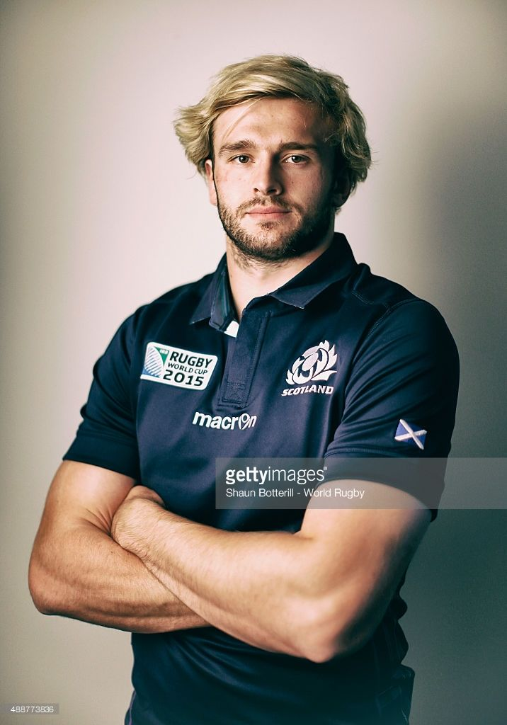 Richie Gray of Scotland poses for a portrait during the Scotland Rugby World Cup 2015 squad photo call at the Hilton Puckrup Hall on September 17, 2015 in Tewkesbury, England.