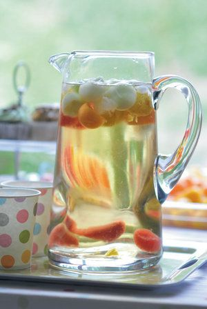 Polka drinks: serve jugs of water with ice and fruit balls to quench everyone's thirst.