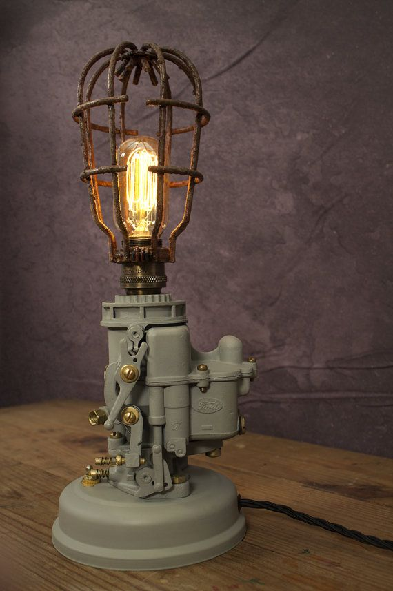 1942 Ford 94 Carburetor Desk LampOne of a by VintageLightingCo