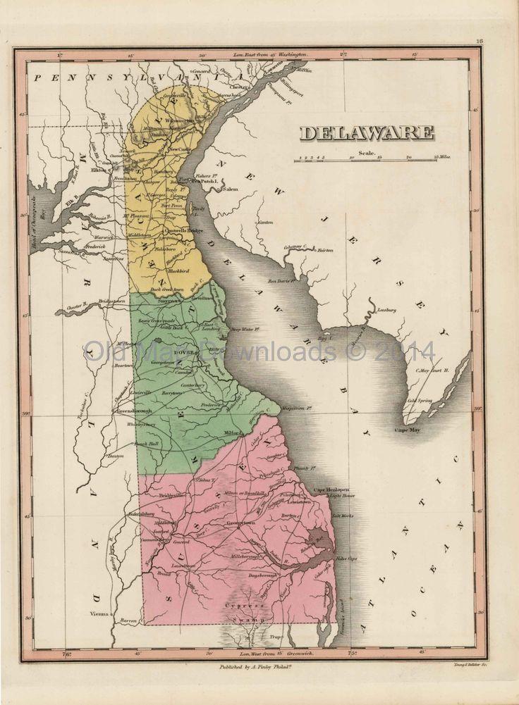 Best 25 Delaware State Ideas On Pinterest Map