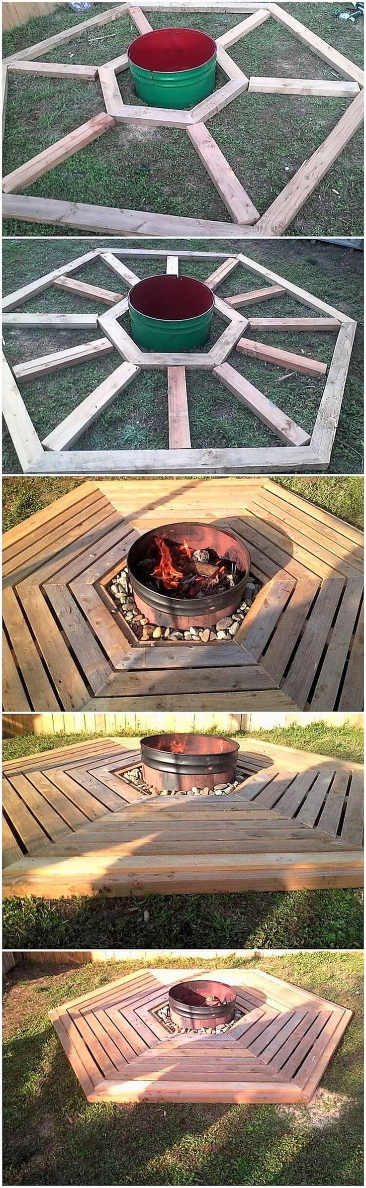 This is such an inspiring designed wood pallet garden creation that would make you to forget blinking your eyes for a second. It is alluring added with the custom work of the wood pallet where the round shaping artwork has been added in an appealing way.