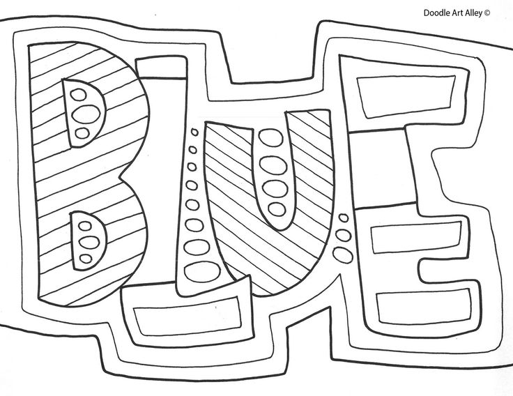 Colors Coloring Pages At Classroom Doodles By Doodle Art Alley
