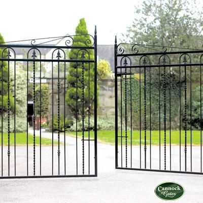Windsor Wrought Iron Drive Gates from Cannock Gates