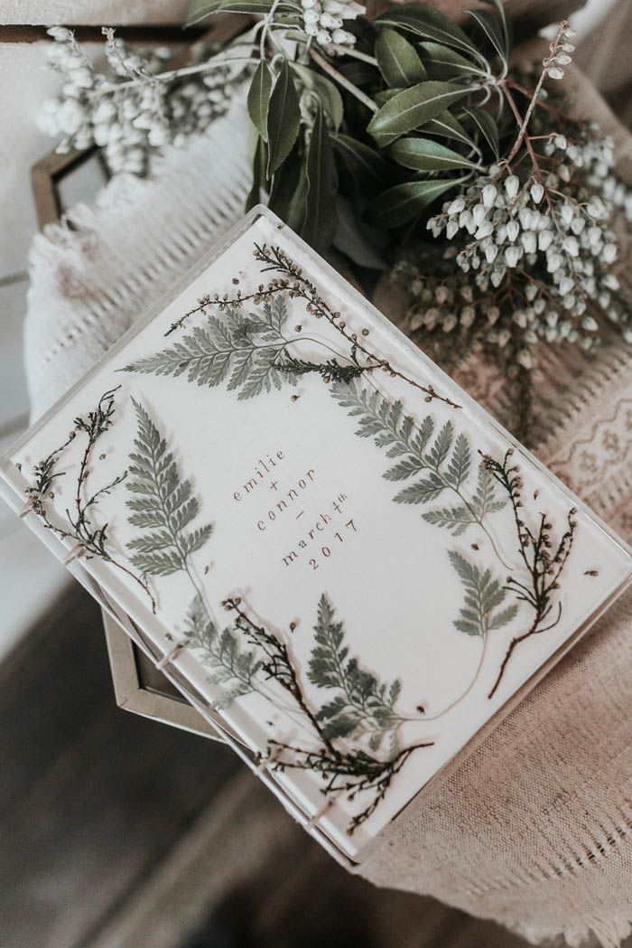 Artistic and earthy wedding invitation | Image by Karra Leigh Photography