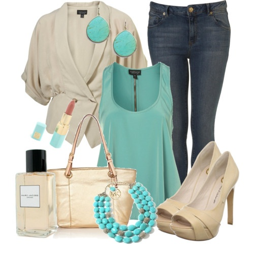 Nudes and turquoises