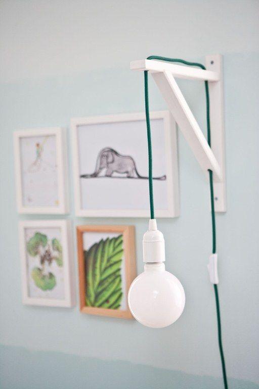 home, kedvencotthon, interiordesign, interiorstyling, kidsroom, turquoise, walldecor, pictures, tilka, the little prince, ombre wall, diy (photo: Milán Tóth)