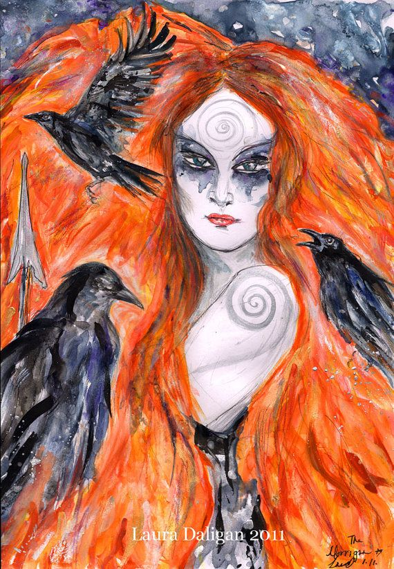 The Morrigan  Warrior Queen by Laura Red Witch on Etsy.