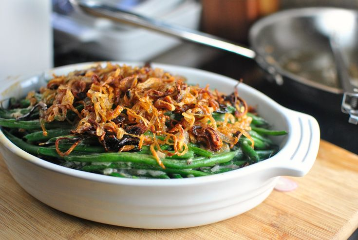 Simply Scratch » Homemade Green Bean Casserole with Crispy Fried Shallots