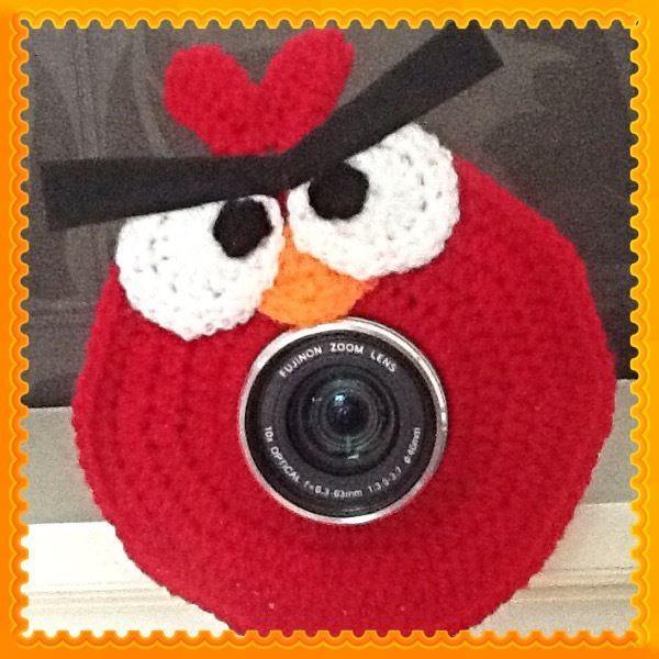 Camera Lens Buddy, Angry Bird! Handmade, Photo Prop, Baby Shower Gift